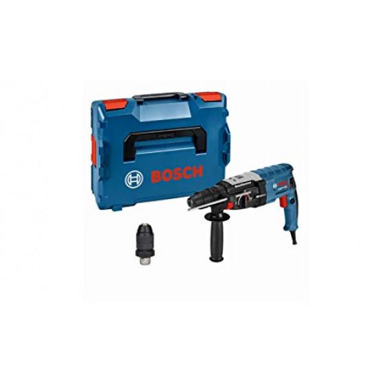 Bosch Professional GBH 2-28 F Perforateur GBH 2-28 F (Mandrin Interchangeable SDS Plus, Mandrin Automatique 13 mm, Diamètre de Perçage Maxi de 28 mm, Protection Antirebonds, dans une L-BOXX) Bleu