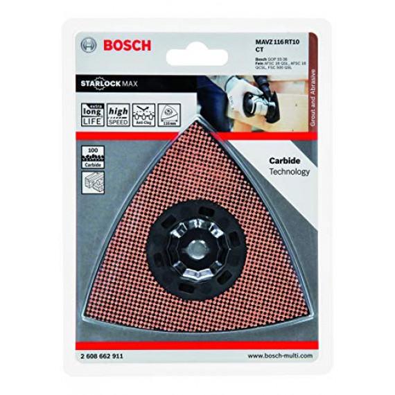 Bosch Professional 2608662911 Bosch 2608662911-Accesorio Para multiherramienta MAVZ 116 RT6: mortero,abrasivo: carburo, Couleur, Size