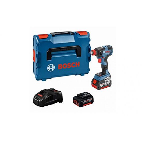 Bosch Professional 06019G4201 18V System Boulonneuse sans-fil GDX 18V–200 C (Couple Maxi : 200 Nm, avec 2 Batteries 5,0 Ah, dans une L-BOXX)