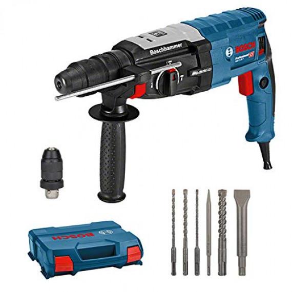 Bosch Professional Perforateur GBH 2-28 F (880 Watt, Ø de perçage du béton max : 28 mm, y compris jeu de 6 ciseaux perforateurs, SDS-plus, dans une L-Case)