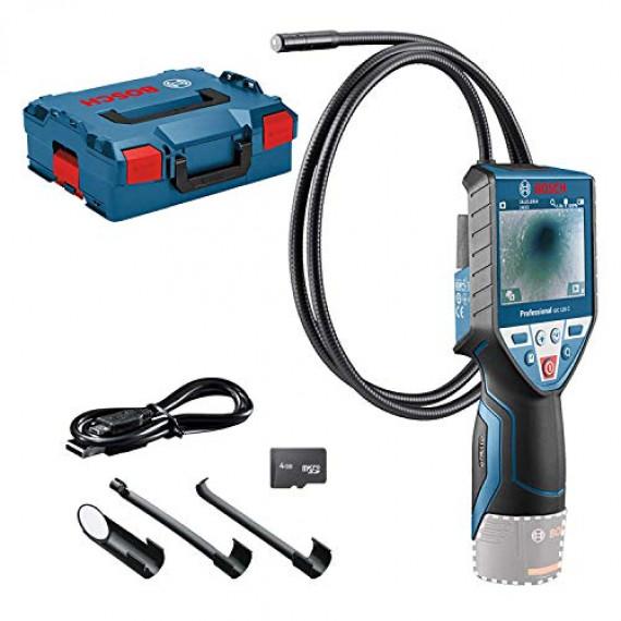 """Bosch Professional 12V System Caméra d'inspection GIC 120 C (sans batterie et chargeur, longueur du câble: 120cm, écran: 3,5"""", 4xpilesAA, dans une L-BOXX)"""