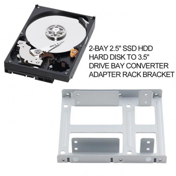 """WE Adaptateur  pour 1 disque dur SSD/HDD 2.5"""" en baie 3.5"""""""