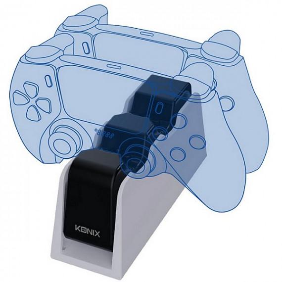 Konix Accessoire manette  DUAL CHARGE BASE PS5