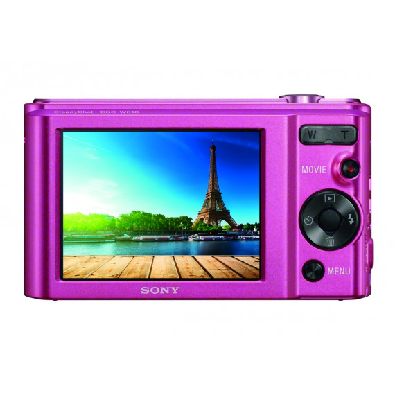 SONY Appareil photo Compact  Pack DSC-W810 Rose + SD 8Go