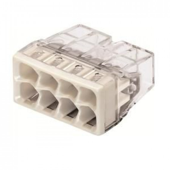 GENERIQUE WAGO Blister de 10 bornes 2273 8 entrées 0,5 à 2,5 mm² transparentes