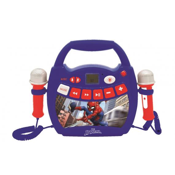 Lexibook Lecteur Audio Lumineux Sans-fil Portable avec 2 micros SpiderMan