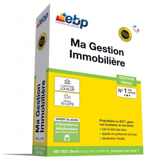 EBP EBP Ma Gestion Immobilière 2018 version 10 lots - Logiciel de Gestion de Biens (Français, WINDOWS)