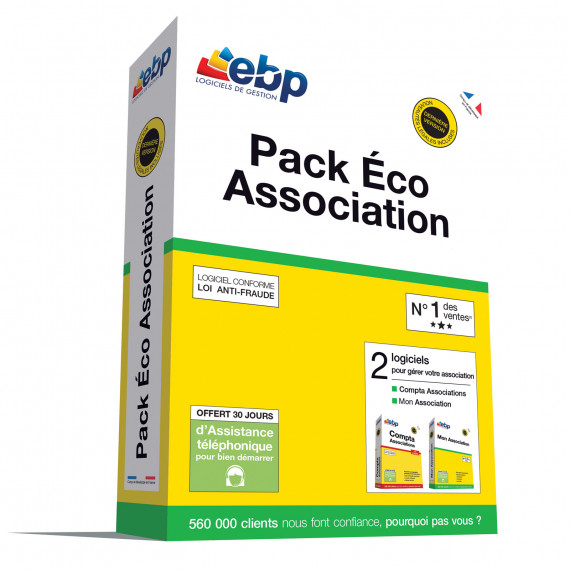 EBP EBP Pack Eco Association 2018 - Logiciel de Gestion d'Association (Français, WINDOWS)