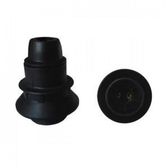 GENERIQUE Douille E14 thermoplastique 1 bague noir
