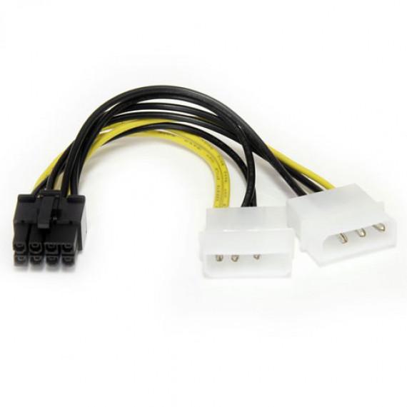 GENERIQUE Adaptateur d'alimentation Molex vers connecteur PCI-E 8 pins