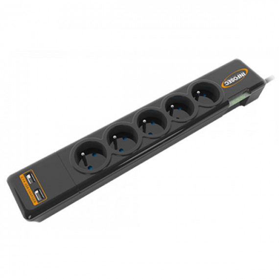 DIGITUS MULTIPRISE S5 USB NEO 5priseFR+2CHARGEUR USB