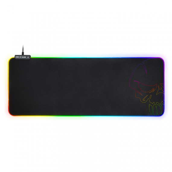 Spirit Of Gamer Skull RGB Gaming Mouse Pad XXL