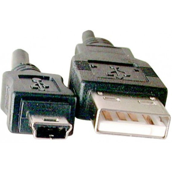 MCL Câble USB 2.0 type A mâle / mini B mâle (5 broches) - 2m