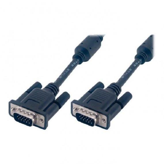 MCL Câble S-VGA HD15 mâle / mâle surblindé 3 coax + 9 fils - 50m Noir