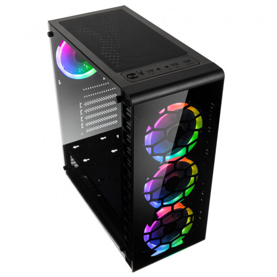 Kolink Observatory Lite RGB Boitier Moyen Tour - noir