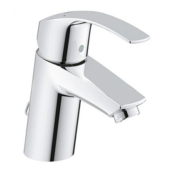 Grohe 33188002 GROHE Eurosmart Robinet pour lavabo avec chaînette rétractable à bouchon de trou