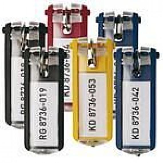 Durable DURABLE Sachet de 6 porte-clés KEYCLIP 68 x 25mm coloris assortis