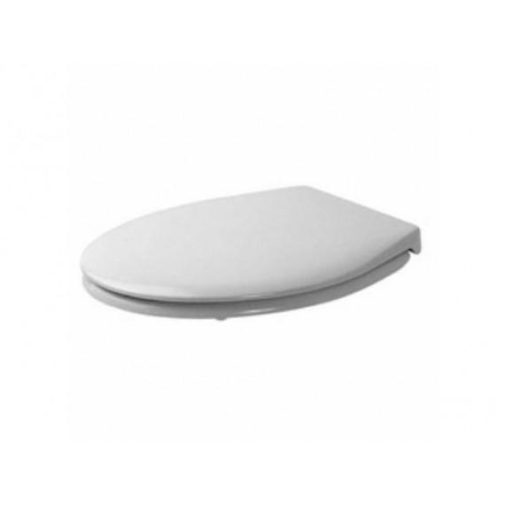 Duravit Bambi 0065700000Siège de Toilette Soft Close Charnières en Acier Inoxydable Blanc