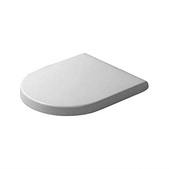 Duravit 63890000 Abattant de WC Starck 3 avec technologie de fermeture amortie, charnière en acier inoxydable et couvercle Blanc