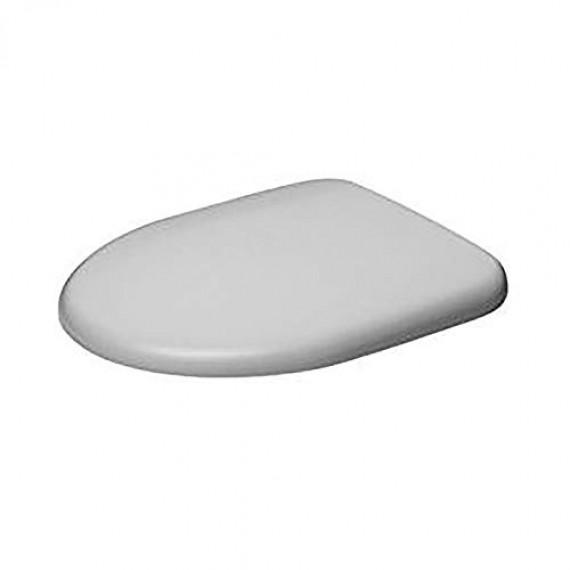 Duravit Architec 0069690000Abattant de WC avec charnières en Acier Inoxydable Blanc Fermeture Douce