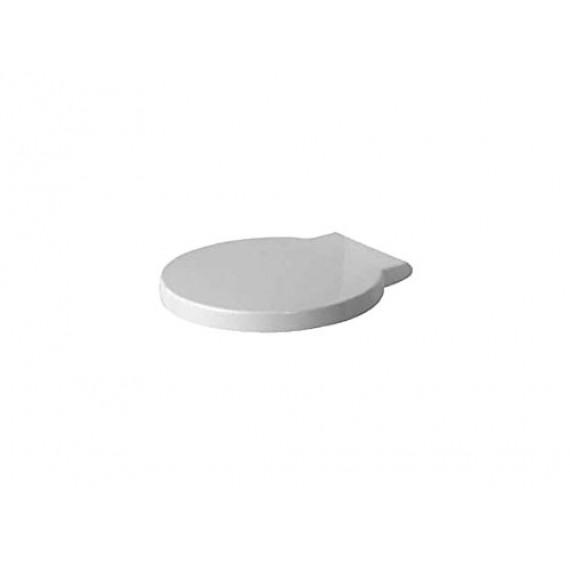 Duravit 0065880099Abattant de WC Starck 1avec charnière Softclose vague, acier inoxydable/blanc