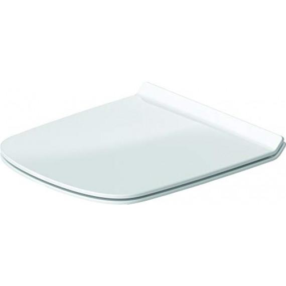 Duravit - série Durastyle 006379 - Abattant WC avec charnière inox à fermeture ralentie Blanc