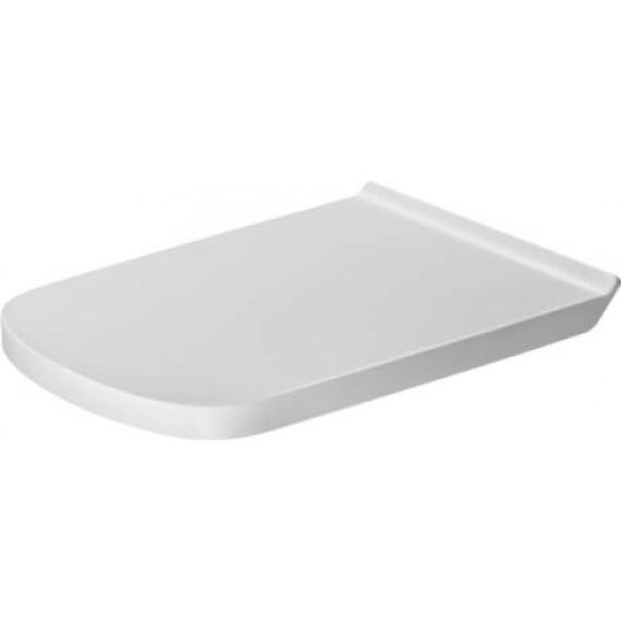 Duravit Abattant WC dur Durastyle Vital Long avec couvercle et charnières en acier inoxydable, 1pièce, blanc, 62310000