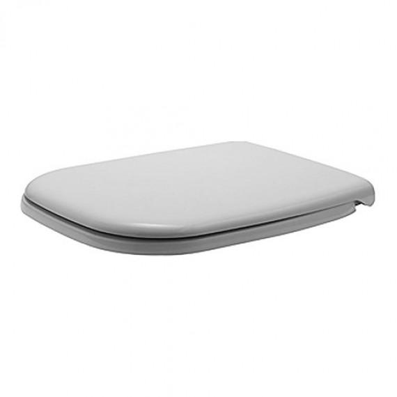 Duravit Abattant de WC en D CODE Compact avec charnières Softclose plastique, 1pièce, blanc, 67390099