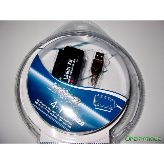 GENERIQUE Adaptateur USB 2.0 pour disque dur 2.5''/3.5'' IDE/SATA