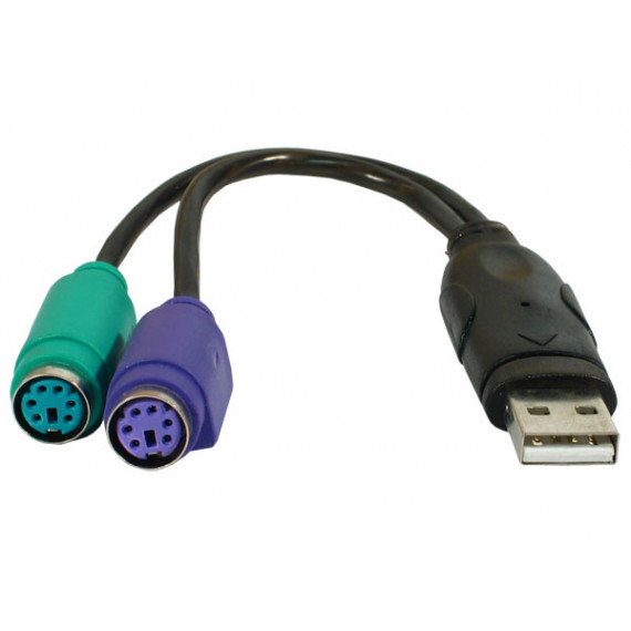 GENERIQUE Adaptateur convertisseur USB pour clavier et souris PS/2