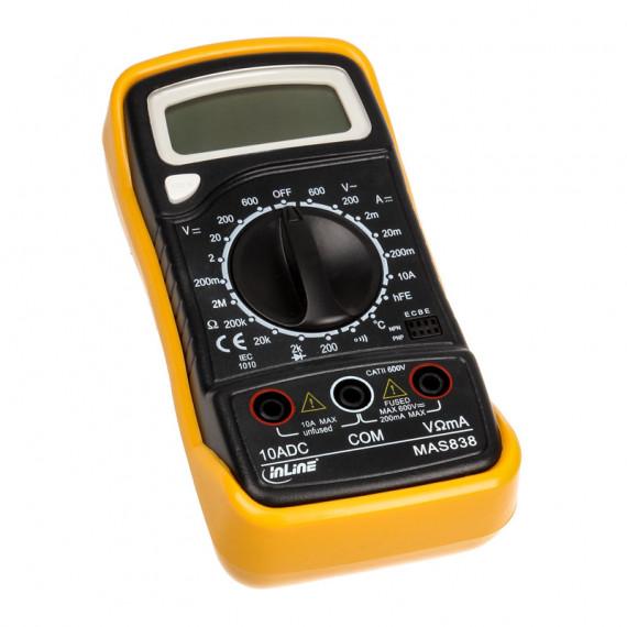 InLine Multimètre, avec capteur de température et mesure du transistor