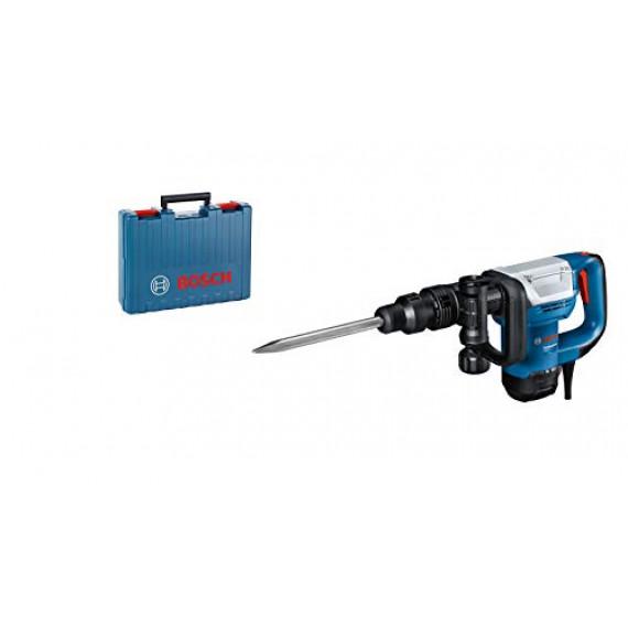 Bosch Professional Marteau perforateur GSH 5 avec burin pointu et mallette à outils 7,5 J 1100 W