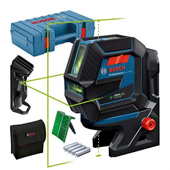 Bosch Professional Niveau Laser GCL2-50G (faisceau vert, support RM10, pince plafond, portée visible: jusqu'à 15m, 4xpiles AA, coffret de transport)
