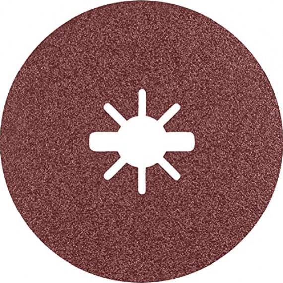 Bosch Professional 25x Disques en fibre céramique X-LOCK Prisma Expert R781 (pour Acier, Tôles en acier inoxydable, Ø 125 mm, Grain 80, Accessoire Petite meuleuse angulaire)
