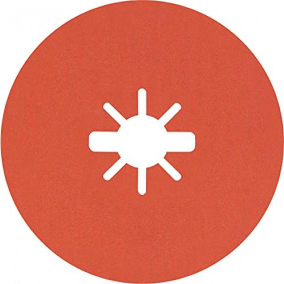 Bosch Professional 25x Disques en fibre céramique X-LOCK Prisma Expert R782 (pour Acier, Tôles en acier inoxydable, Ø 115 mm, Grain 80, Accessoire Petite meuleuse angulaire)