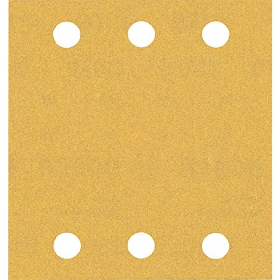 Bosch Professional 10x Feuilles abrasives Expert C470 à 6trous (pour Bois dur, Peinture sur bois, 115x107 mm, Grain 180, Accessoire Ponceuse excentrique)