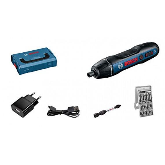 Bosch Professional visseuse sans-fil GO 2.0 (avec set de 25 embouts de vissage, câble de charge, L-BOXX Mini)