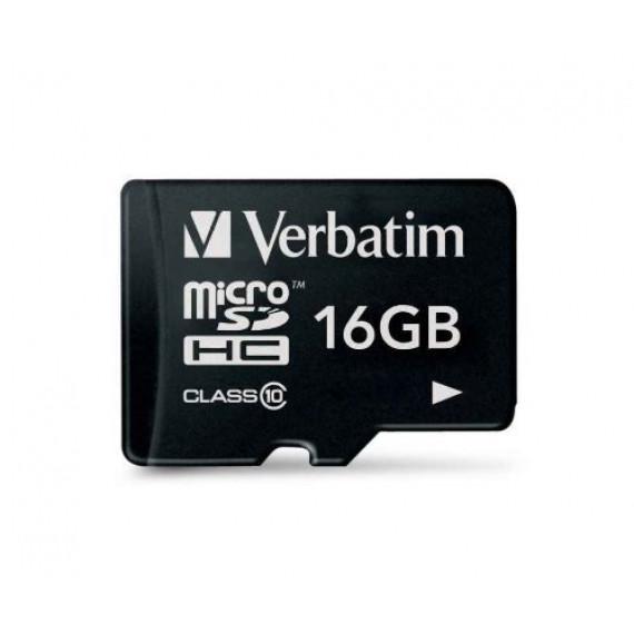 VERBATIM Carte microSD High Capacity (microSDHC) Verbatim 44010 - 16 Go - Classe 10