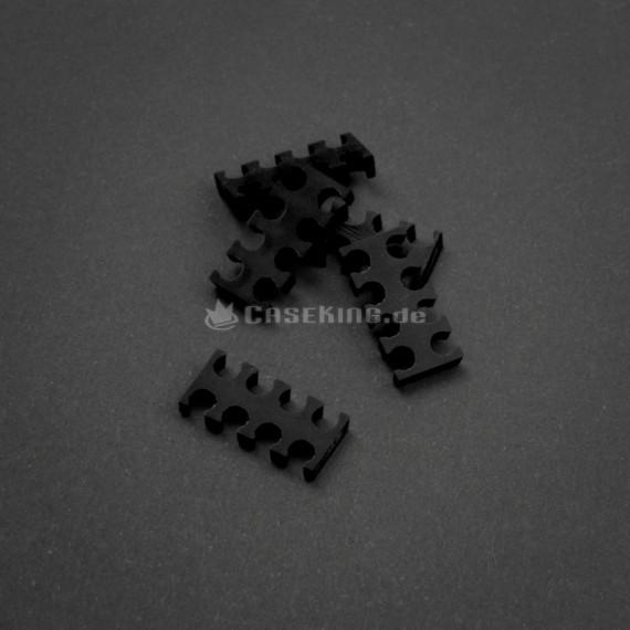 King Mod Services Roi Mod service peigne câble 8 fente 4 mm grand - noir - Ensemble de 5