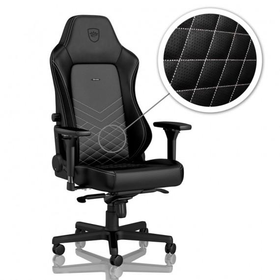 Noblechairs chaises chic HERO Chaise de jeu - noir / blanc platine