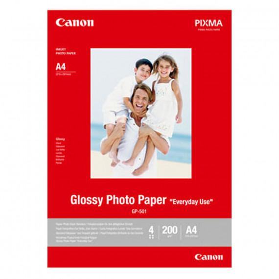 """CANON GP-501 Glossy - Papier Photo Glacé """"usage quotidien"""" A4 200 g (20 feuilles)"""