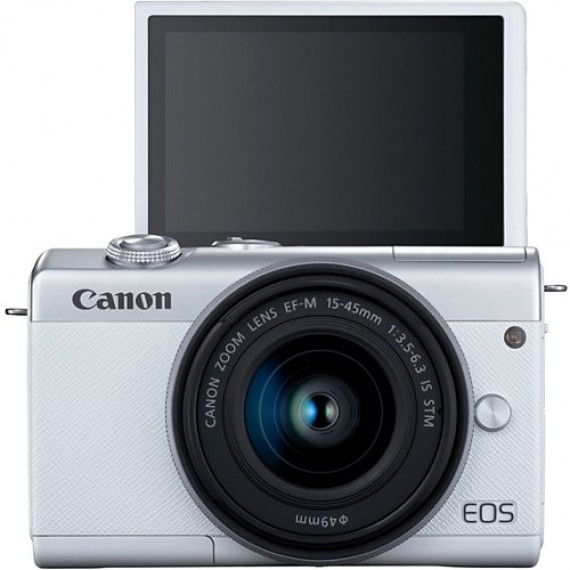 CANON Appareil photo Hybride  EOS M200 Blanc + EF-M 15-45mm IS STM