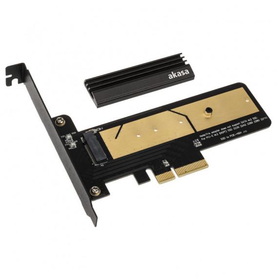 AKASA M.2 X4 carte adaptateur PCI-E 3.0 - PCB noir