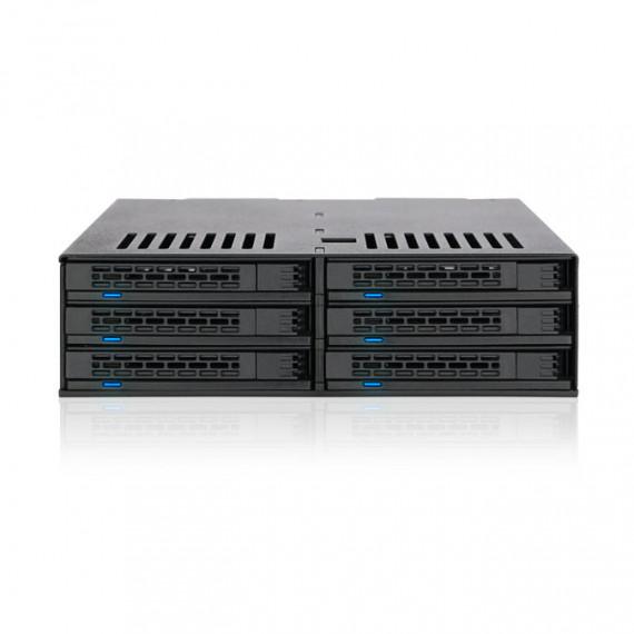 """Icy Dock ICY DOCK ExpressCage MB326SP-B - Rack amovible pour 6 disques durs 2.5"""" SAS/SATA dans 1 baie 5.25"""" (noir)"""
