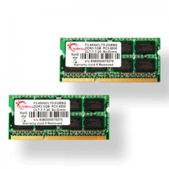 GSKILL SODIMM 8 Go (Kit 2x 4 Go) DDR3-SDRAM PC3-8500