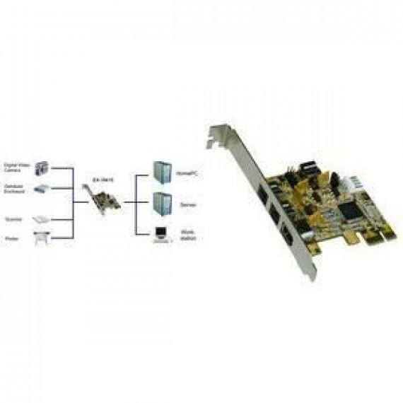 GENERIQUE EXSYS carte PCI-Express FireWire 1394b avec 3 +…
