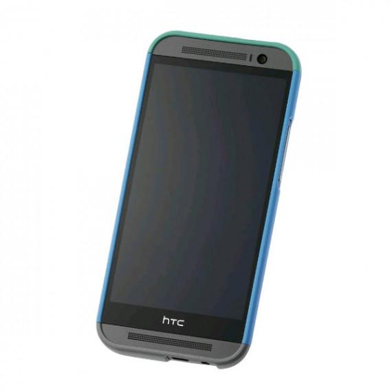 HTC Coque Rigide Double Dip HC C940 Bleu/Vert/Gris One M8