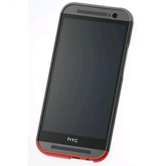 HTC Coque Rigide Double Dip HC C940 Gris/Rouge One M8