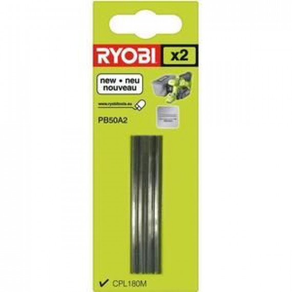 Ryobi 2 fers jetables (carbure) 50 mm pour rabot ONE+