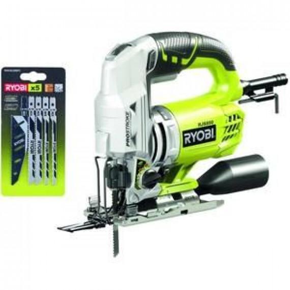 Ryobi Scie sauteuse compacte 600W en mallette + 5 lames